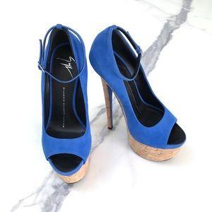 Giuseppe Zanotti Denny Sky High Peep-Toe Heels